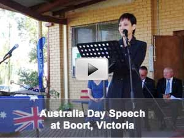 Yvonne Ho's Australia Day Speech at Boort, Victoria